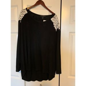 NWT, Ashley Stewart, Lightweight Blk Sweater Sz 26